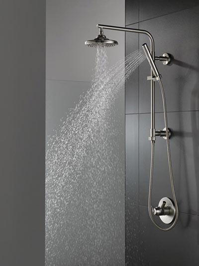 Delta Develops Shower Column For Compact Baths