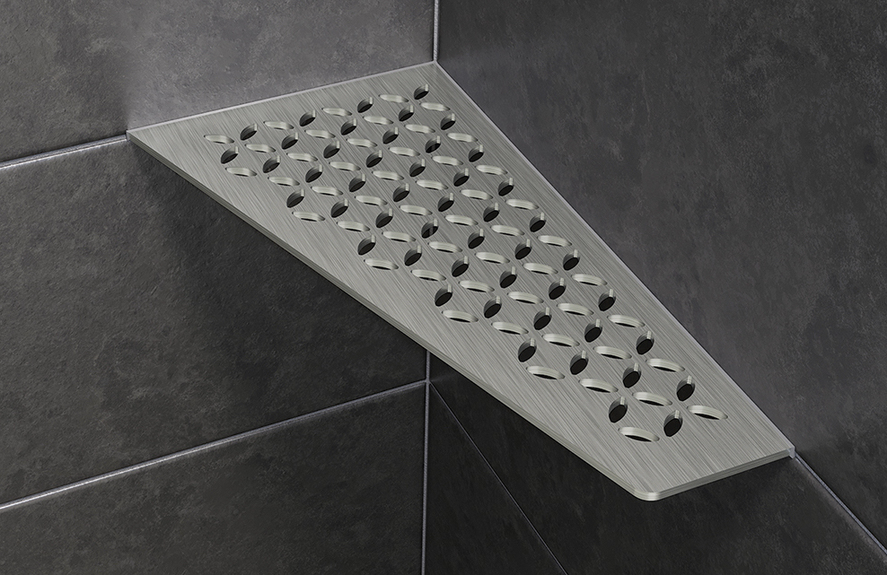 Schluter Introduces Stainless Steel Shower Shelves