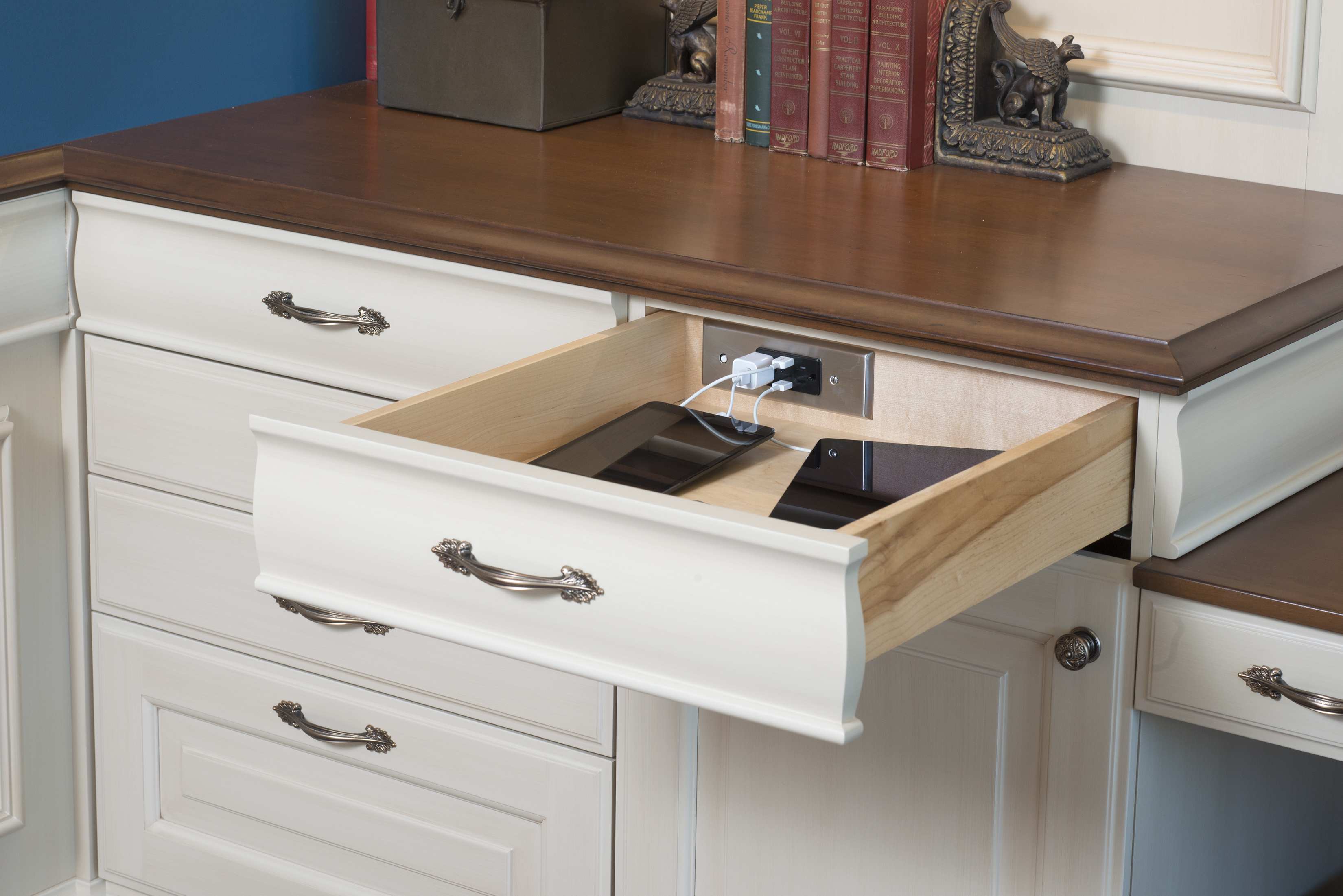 Bathroom Light Barth Electrical Outlet Vanity Power: Wood-Mode Offers New In-Drawer Electrical Outlets