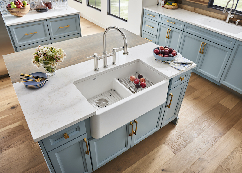 blanco unveils new low-divide farmhouse sink | residential products online