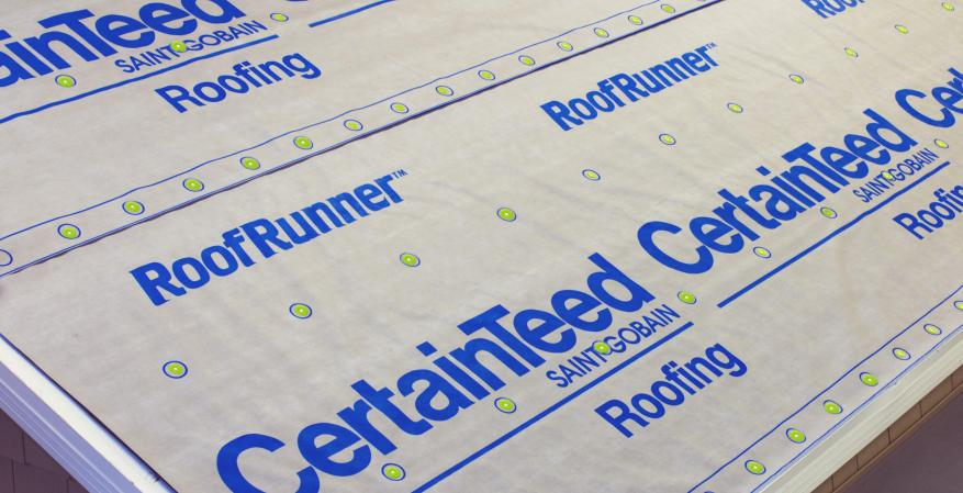 Certainteed RoofRunner Underlayment Customization