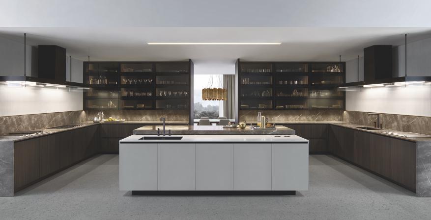 Poliform Alea Plus custom kitchen cabinet concept system