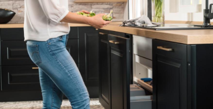 Richelieu Libero Electronic automatic door opener kitchen install