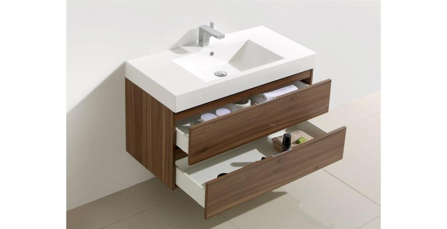 A vanity with ample counter space is a good bathroom idea