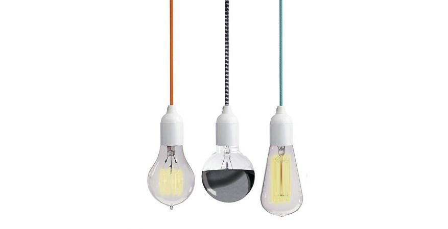 NUD Classic pendant+colorful cords+bulb+NUD Collection
