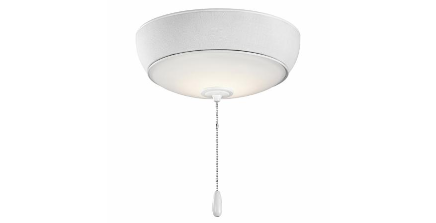 Bluetooth ceiling fan light from Kichler with white finish