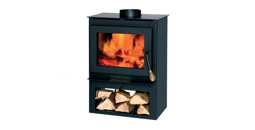 The Home Depot  The Englander is an affordable steel wood-burning stove that will heat a room measuring up to 1,200 square feet.