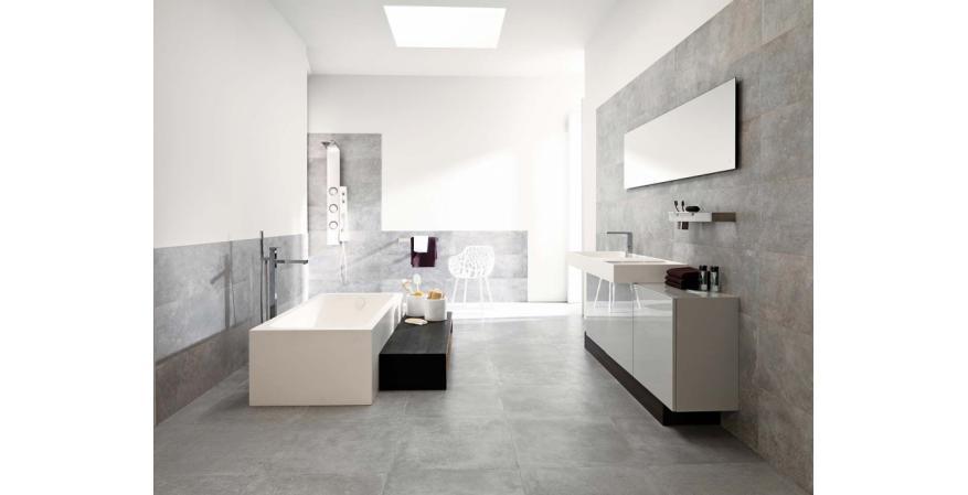 Ditch the mosaic floor tile as a bathroom idea