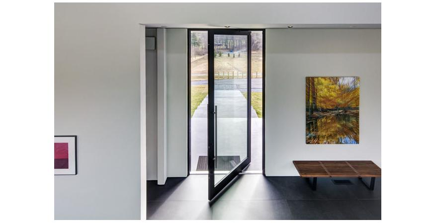 A pivot door by Western Window Systems.