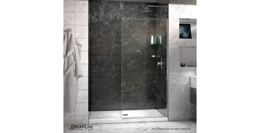 Shower doors are hard to clean, so ditch the doors as a bathroom idea