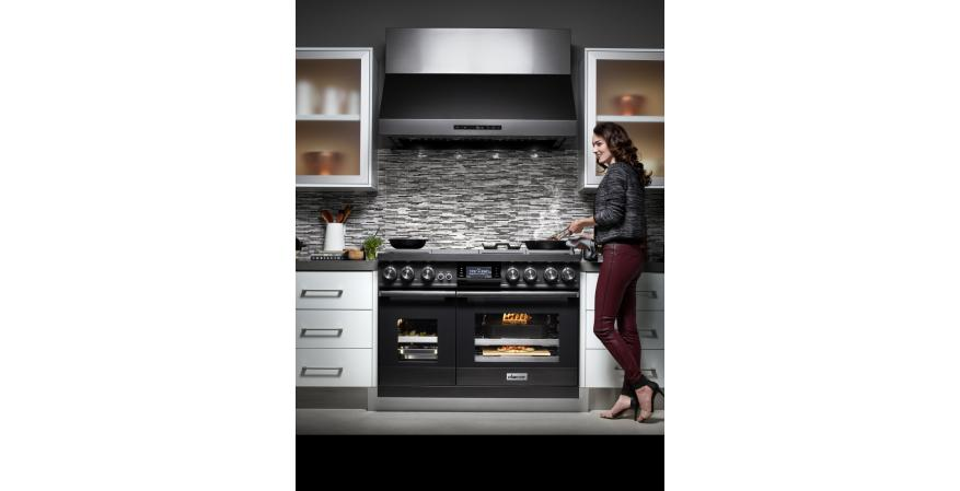 Dacor Modernist kitchen features a variety of WiFi-enabled appliances