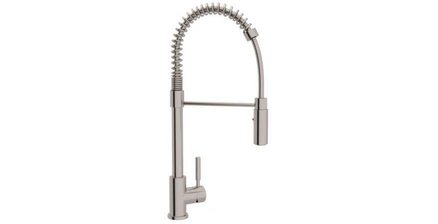 Rohl stainless steel Pro Pulldown kitchen faucet