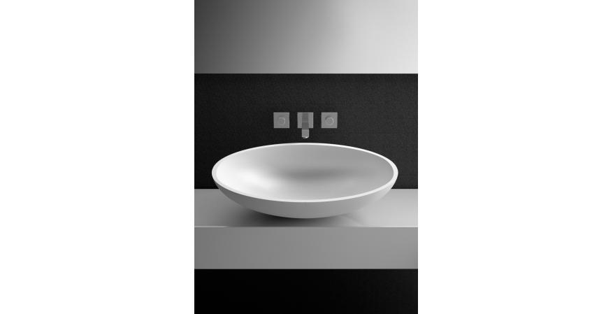 Glass Design bath sink in white
