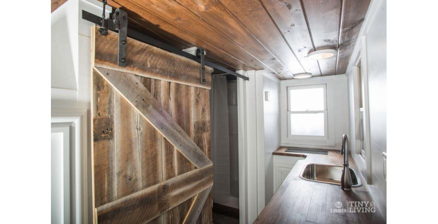 Great It Has A Reclaimed Wood Accent Wall And Custom Designed Barn Door.
