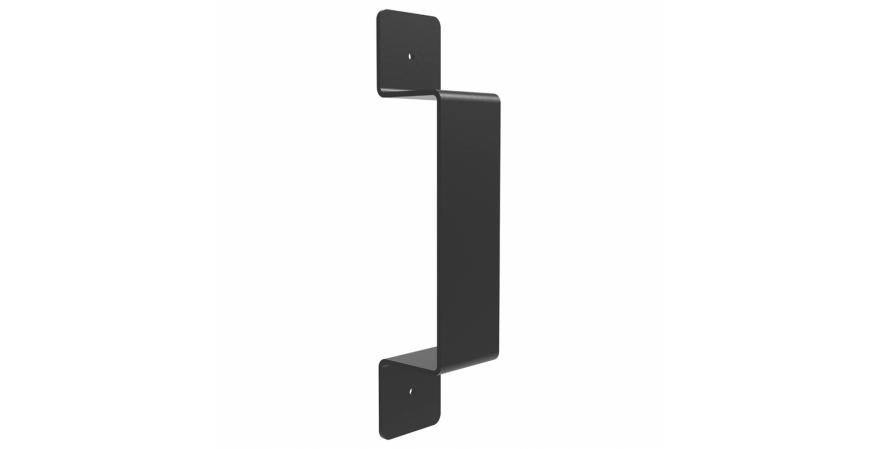 Federal Brace Black Rustic flat Door Handle