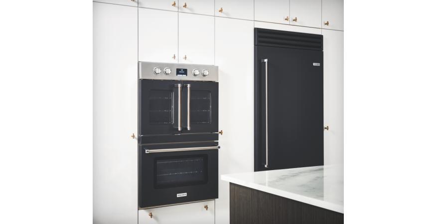 Bluestar double electric wall oven in matte black