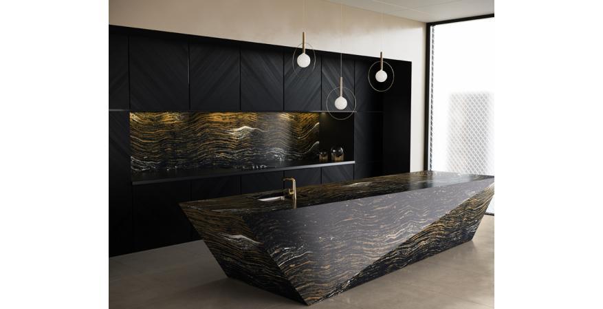 Cambria Dragon black marble collection