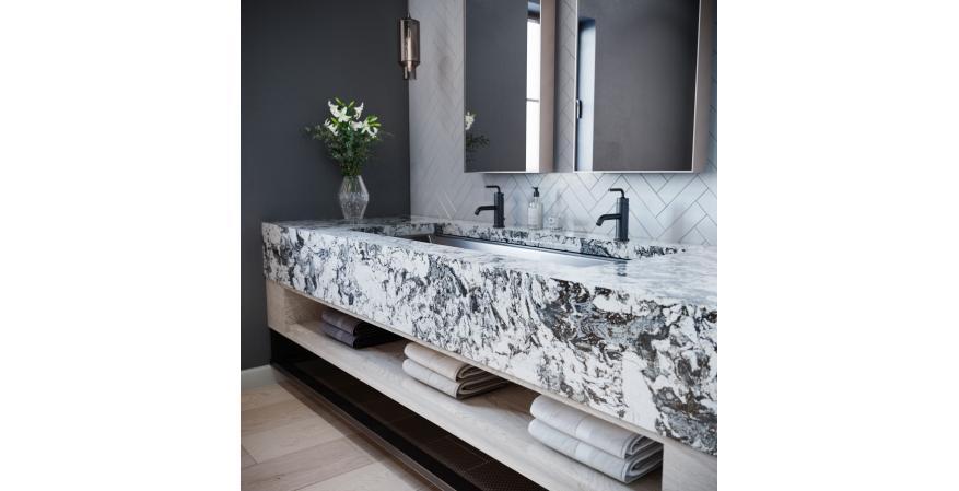 Cambria Huntley black marble collection