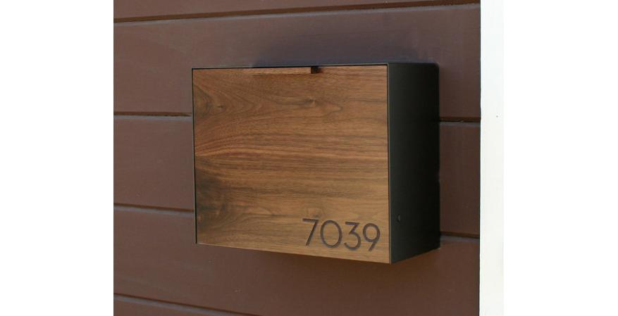 Cece Works Modern Mailbox on etsy