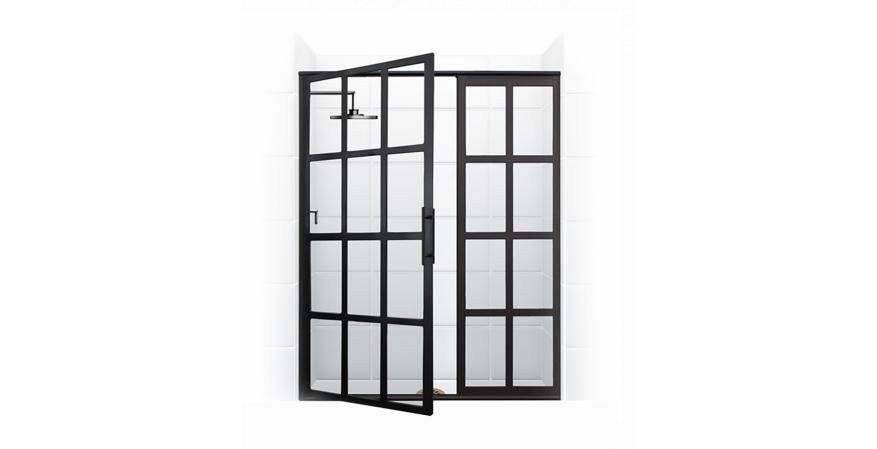Coastal Shower Doors in matte black finish
