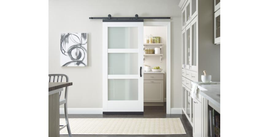 Jeld Wen System Transforms Standard Door Into A Barn Door