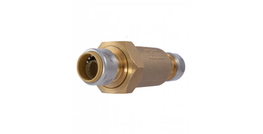 Dual Check Valve with SharkBite Connections