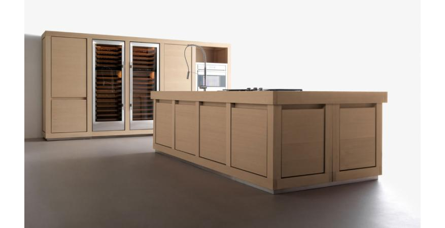 Tan cabinets from Effeti USA, one of several quality cabinet brands