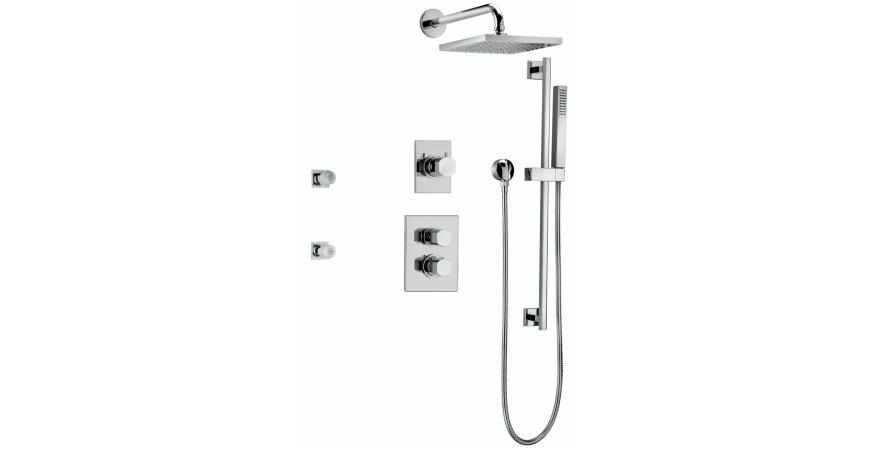 Scala Thermostatic Showering Kit by Fortis
