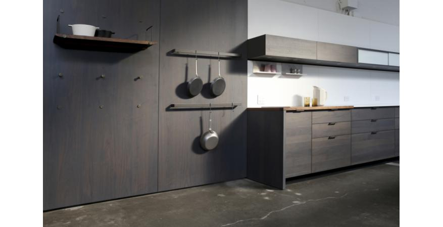 Dark cabinets from Henrybuilt, one of several high quality cabinet brands