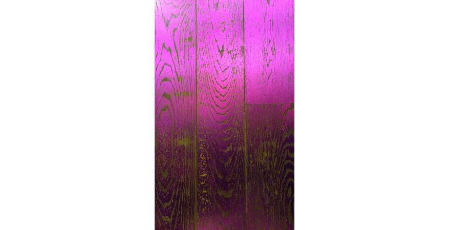 Manhattan Forest Products also showed this custom-designed floor in metallic magenta.