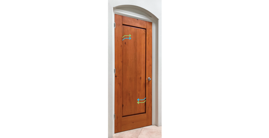 NexDoor is an innovative interior door that features a built-in ventilation system that makes every room cleaner and more comfortable, the company says. It equalizes air pressure throughout a house and features a smart coating on the door's interior panels to abate volatile organic compounds.