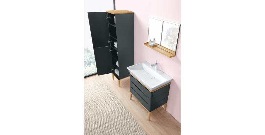 Ronbow teamed with nine high-profile international designers to create the Signature Series of contemporary-style bathroom sinks, vanities, and cabinets. Originally slated for a European launch, the collection landed stateside instead with pieces by Alexander Zhukovsky, DanelonMeroni, Kurz Kurz Design, Phoenix Design, and Ramon Esteve.