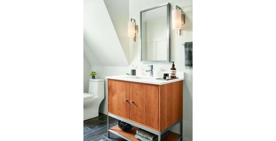 Room and Board Soho bath vanity in Cherry
