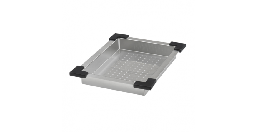 Ruvati workstation sink Roma stainless steel Deep colander silo