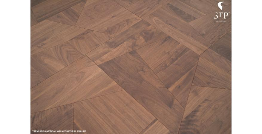 STP Wood Flooring has developed a new parquet line of asymmetrical wood flooring that was inspired by the artist Antoni Gaudi.