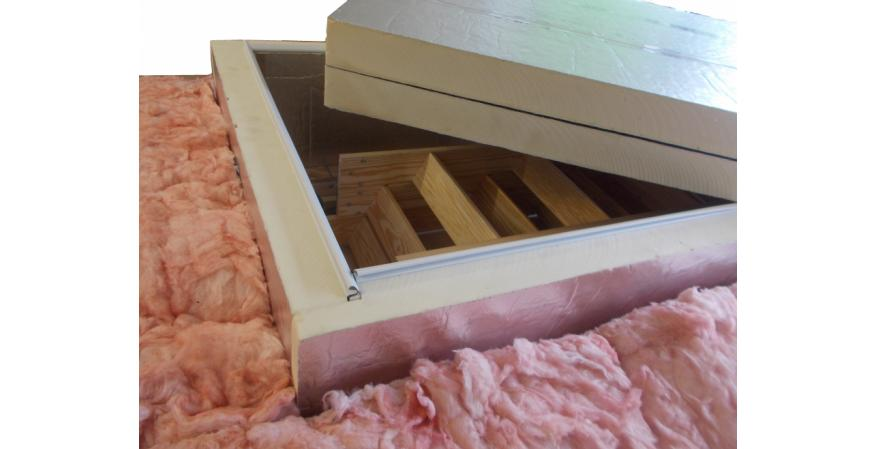Therma-Dome attic stair cover