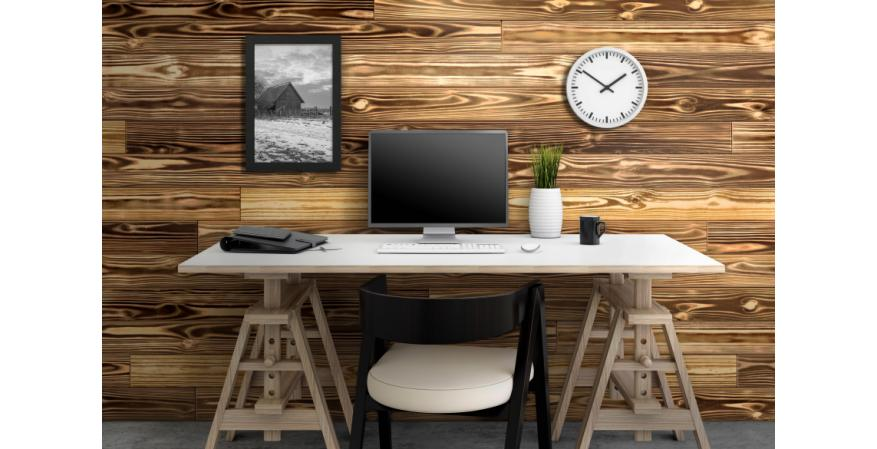Universal Forest Products Charred UFP-Edge shiplap wood wall