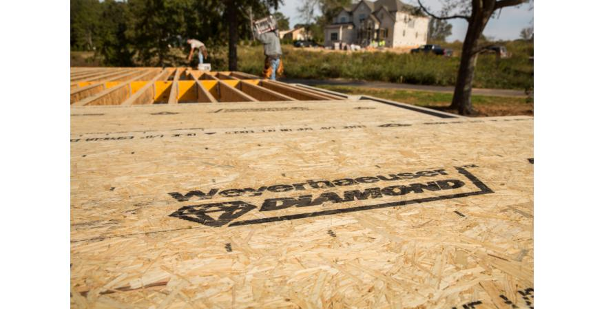 Weyerhaeuser says its new oriented strand board subfloor panel is designed to provide wet weather performance and superior strength and nail retention to help eliminate squeaky floors.