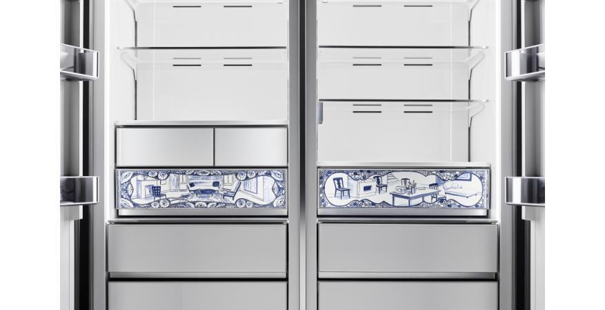 Dacor Atelier Edition porcelain refrigerator