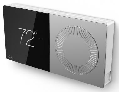 Daikin One+ smart thermostat angle view silo