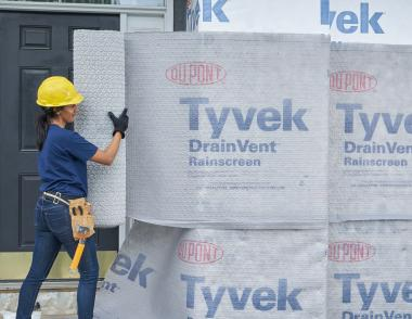 Drainvent rainscreen Dupont Tyvek