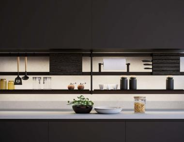 GKC kathy ireland Kitchen Hacks Luxury Black Hana Rail
