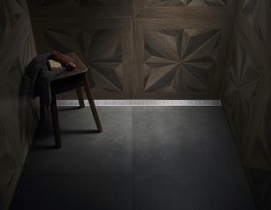 Universal Linear Drain beauty shot in shower