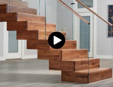 Viewrail Terrace Stairway installation walnut