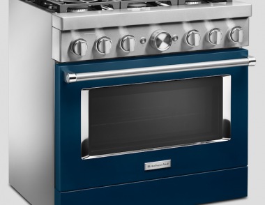 Whirlpool Appliances KitchenAid Connected Commercial Style Range Ink blue