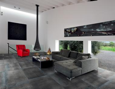 Industrial style metal tile from Ergon