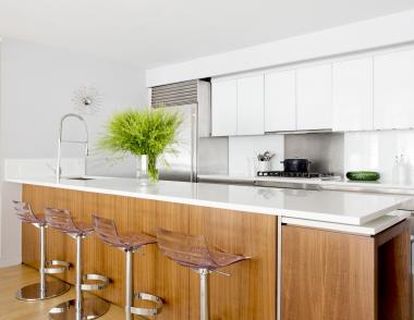 Wood and white cabinets Houzz trends