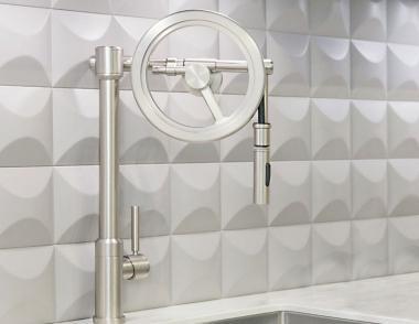 Waterstone Endeavor Wheel Pulldown Kitchen Faucet