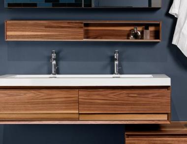 Wetstyle Wood Wall hung vanity floating bathroom vanity