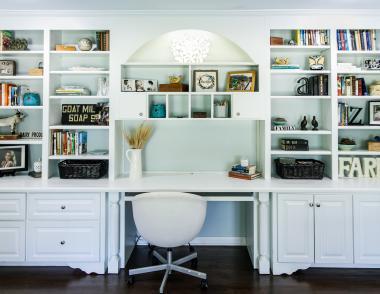 Work from home storage design